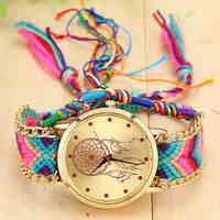 8 Colors New Handmade Braided Watch Dreamcatcher Friendship Watch Geneva Watch Women Quartz Watch Ladies Relogio BW-SB-1467