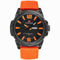 NAVIFORCE 2016 Men's Luxury Watch Military Watch Men Quartz Watch Sports Automatic Date Clock Brand Men Casual Nylon Watch 9066