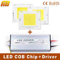LED COB Chip Light Beads With LED Driver 10W 20W 30W 50W 70W LED lamp And LED Transformer High Flux Suitable For Flood Light DIY