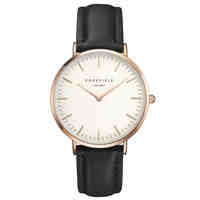 ROSEFIELD Women Watch Golden Genuine Leather Quartz Watch Water Resistant 3ATM Watch Women Dress Men Sports Famous Brand Watch