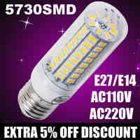 220V 110V Lampada de led corn bulb E27 E14 5730SMD Led Lamps LED Lights Corn Led Bulb parede Candle Lighting Spotlight