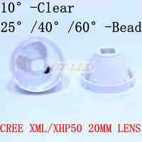 1pcs CREE XML LED XML2 LED XHP50 LED Lens 20mm white holder 10/25/45/60 degree LED LENS/Reflector Collimator