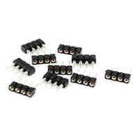 20Pcs 4 Pin 10mm LED Splitter Cable LED Strip Connector for 5050 RGB LED Light Strips Female to Male LED Connectors