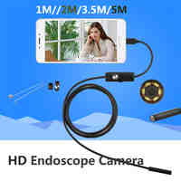 5.5mm Lens Android USB Endoscope Camera 1M 5M IP67 Waterproof Snake Pipe Gadget Inspection Android Phone OTG USB Borescope 6LED