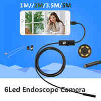5.5MM 2M Mini Usb android Inspection endoscope Camera Underwater Endoscopio Tube snake Micro-cameras For PC Android Phone car 5M