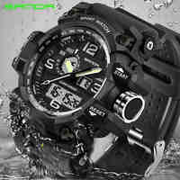 SANDA military watch men's waterproof sports watch top brand luxury men's watch men's fashion casual watch relogio masculino