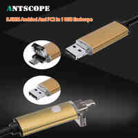 Antscope Gold 2m 5m 10m 2IN1 Android Endoscope Camera Endoscopic Snake Tube Cameras Android PC Boroscope Inspection Mini Camera