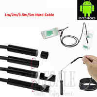 5.5mm 1-5m Hard Cable Android Endoscope Camera Waterproof Borescope Inspection Camera Hard Tube For Android Phone Samsung