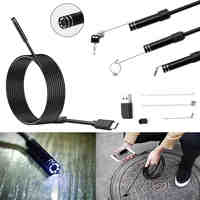 5.5mm Len Type C Android USB Endoscope Camera 3M Flexible Snake Hardwire Tube Inspection USB Android Phone Camera Borescope
