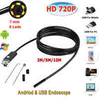 Micro USB Endoscope for Android Phone and PC Stardot 7mm Dia 6LED IP67 Inspection Camera Android Endoscope Camera