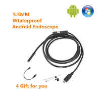 1m/1.5m/2m 5.5mm Len Android OTG USB Endoscope Inspection Camera Flexible Snake Pipe Waterproof Borescope Camera for Android PC
