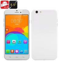 5.5 Inch Android 'i7' Phone - Android 4.4, MTK6572 Dual Core CPU, Dual SIM Front + Rear Camera (White)