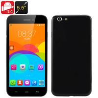 5.5 Inch Android 'i7' Phone - MTK6572 Dual Core CPU, Dual SIM, Android 4.4, Front + Rear Camera (Black)