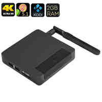 Ugoos AM1 Android TV Box - Amlogic S905 SoC, 2GB RAM, Mali GPU, Kodi 16, UHD 4K, Android 5.1, Wi-Fi
