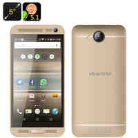 VKworld VK800X Android Smartphone - Quad Core CPU, Android 5.1, 5 Inch Display, Dual SIM, Smart Wake, 2000mAh (Gold)
