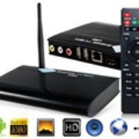 U30 Android RK3188 Quad-core Google Android TV Box 1G RAM 8G ROM Full 1080P Smart TV Media Player (Black)