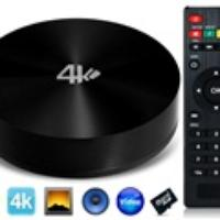 S82 Octa-core Mali-450 Android 4.4 2G DDR3 16GB Android TV Box (Black)