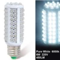 6W E27 108-LED Cool White LED Corn Bulb