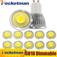 Gu10 Led Dimmable Led Spotlight Bulb Light 15W 10W 7W Gu10 Led Cob Spot Light Lamp Gu10 Led Bulb AC85-265v Lampada