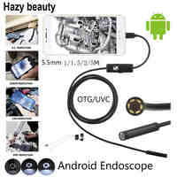 Hazy beauty 5.5mm Lens MircoUSB Android OTG USB Endoscope Camera Waterproof Snake Pipe Inspection Android USB Borescope Camera