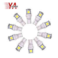 10pcs Auto T10 5SMD 5050 Automotive LED Light W5W 192 168 194 5050 SMD White Bulb Xenon LED Bulb Light Bulb