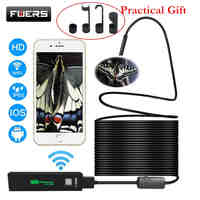 Fuers USB Wifi Endoscope Camera Android 1200P Endoscope Camera Inspection Semi Rigid Hard Tube Softwire Android iOS Borescope