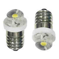 E10 LED Upgrade Bulb 0.5W Emergency Light Bulbs led Indicator Light 3V 4.5V 6V E10 Led Signal lamp, Led Warning light Bulb 2X