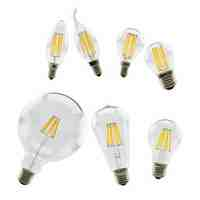 LAN MU LED Bulb 220V LED Lamp E14 E27 LED Filament Light 2W 4W 6W 8W Glass Ball Bombillas LED Edison COB Bulb
