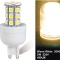 3W G9 27-LED Warm White LED Corn Bulb