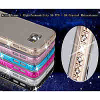Metal Frame  High Permeability S6 TPU  S6 Crystal Rhinestones Cases for Samsung Galaxy S6 (Assorted Colors)
