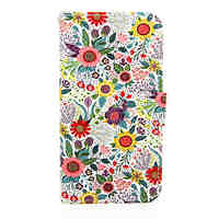 Chrysanthemum Pattern PU Leather Phone Case For Samsung Galaxy S6/S6 Edge/S6 Edge Plus