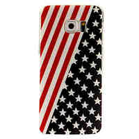 Flag Pattern TPU Back Cover Case for Samsung Galaxy S6/S6 Edge/S6 Edge Plus