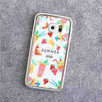 Silver Dessert Electroplating TPU Material Phone Case for S6/S6 Edge/S6 Edge Plus