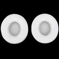 1 Pair Protein Leather Replacement Ear Pads for Monster Beats SOLO 2.0 White